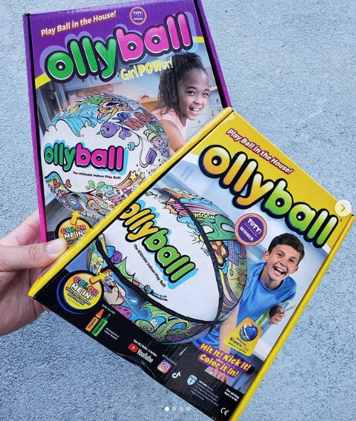 Ollyball toy -- hit it, kick it, color it.